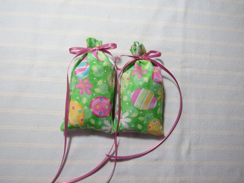 Easter Holiday 4X2 Sachet-/'Violet and Birch/' Fragrance-Green Sachet-Holiday Easter EggsFlowers SachetGift-Cotton Sachet-Cindy/'s Loft-281