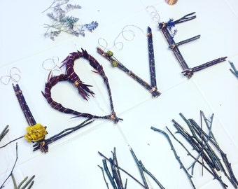 LOVE Twig Word