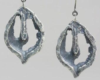 Sterling Black Walnut Earrings