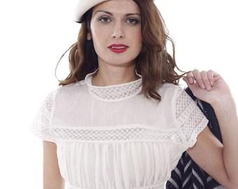 Victorian Blouse, Lace Blouse, Bridal Top, White Lace Top, Women Top, Plus Size Top, Wedding Clothing, Cotton Top, Boho Blouse, White Summer