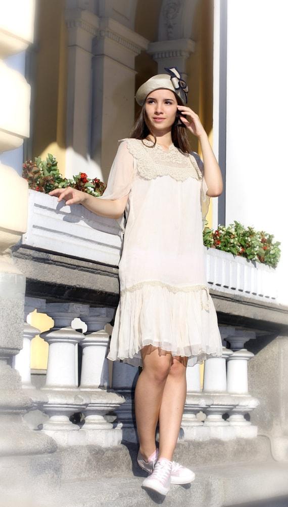 Crochet Dress, 20s Dress, Gatsby Dress, White Wedding Dress, Plus Size  Dress, Silk Dress, Cotton Dress, Evening Dress, Summer Dress