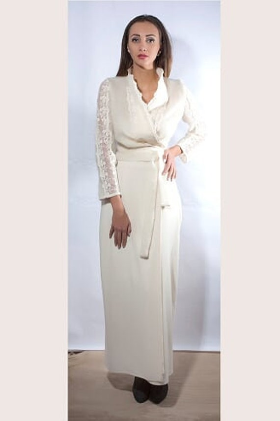 Wool Dress, White Dress, Winter Dress, Lace Dress, Bohemian Clothing, Long  Dress, Warm Dress, Wool Clothing,Plus Size Dress,Maxi Dress