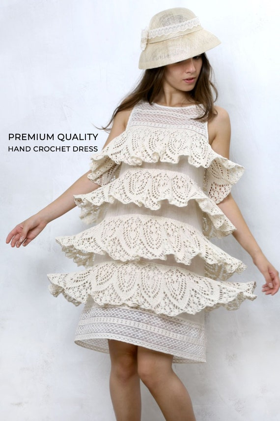 Boho Wedding Dress Bohemian Dress Crochet Dress Plus Size Etsy