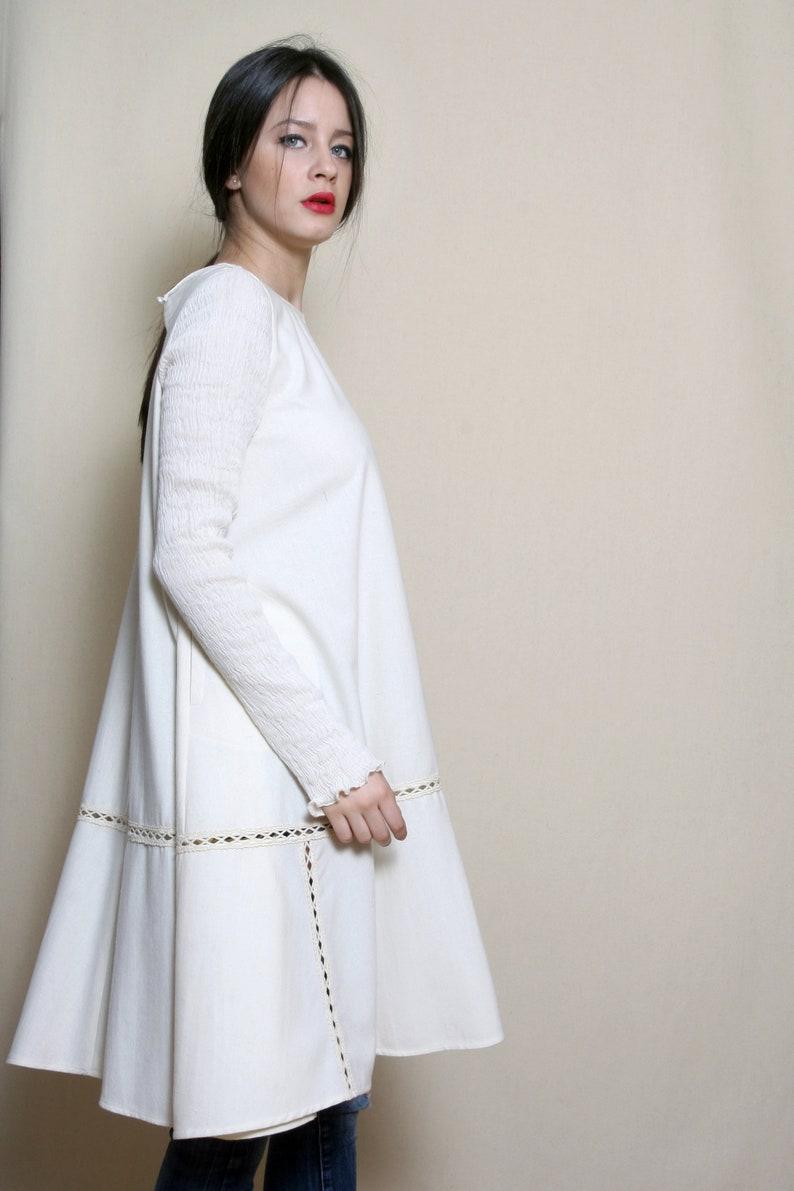 2d6a6e256975 Kleid für Frauen, weißes Kleid, Wolle Winter Kleid Wolle Kleidung, Plus  Size Kleid, Edwardian Kleidung, Alternative Hochzeitskleid
