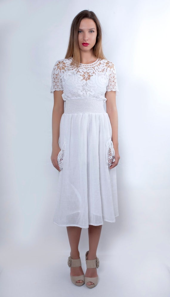 White Wedding Dress, Boho Wedding Dress, Plus Size Wedding Dress, Lace  Wedding Dress, Bridesmaid Dress, Bridal Wedding Dress, Summer Wedding