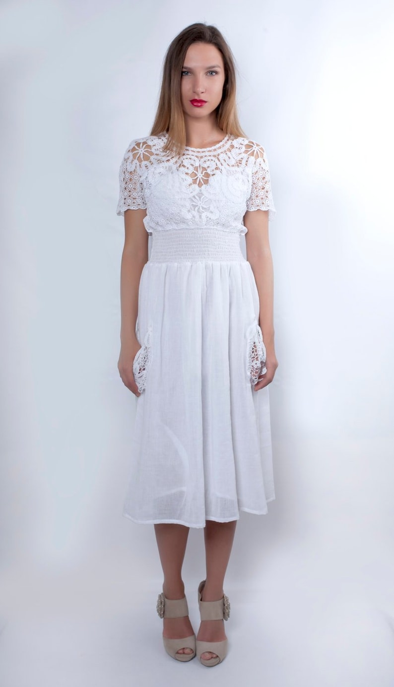 White Wedding Dress Boho Wedding Dress Plus Size Wedding | Etsy
