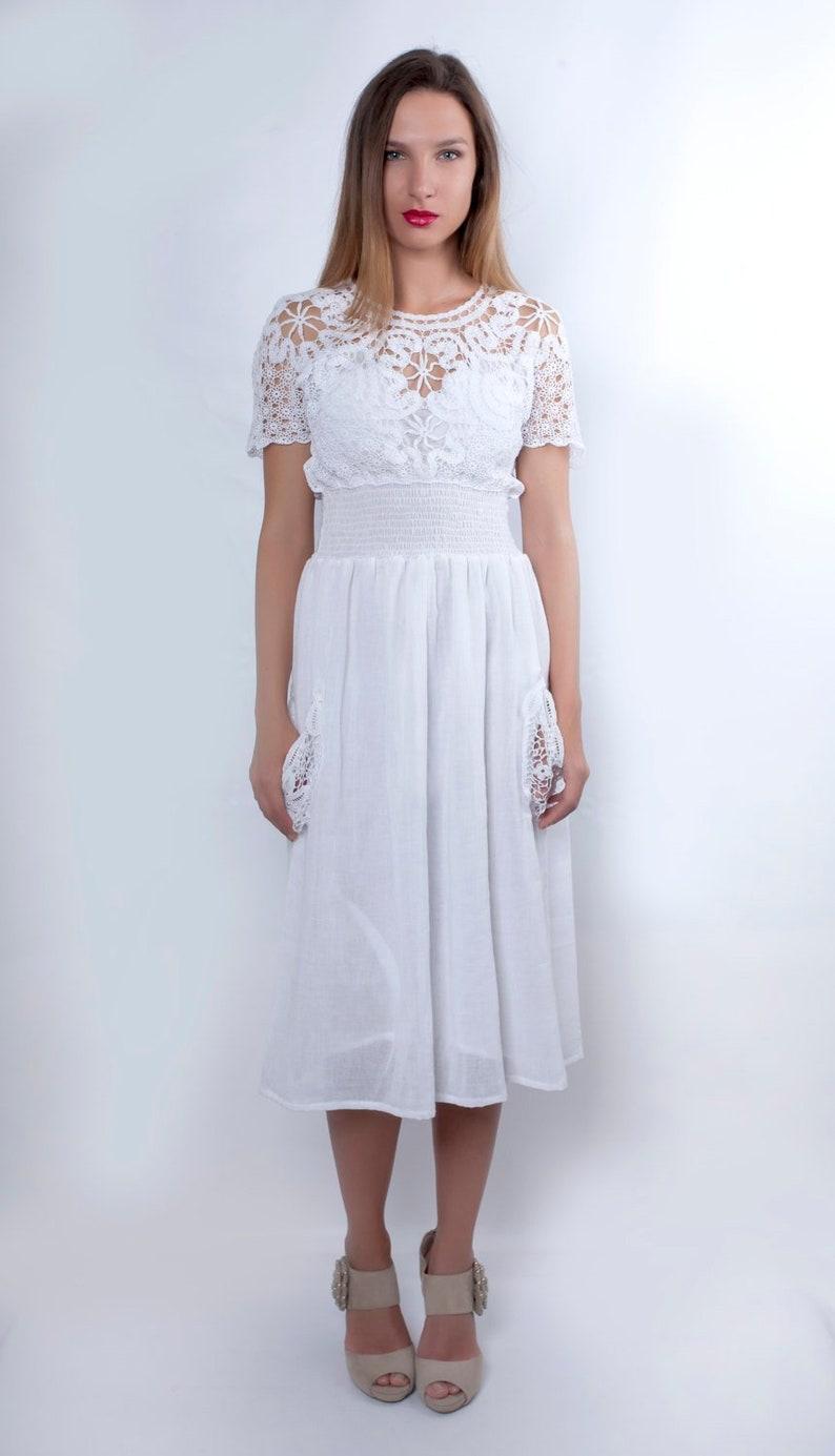 Plus Size Summer Casual Wedding Dress