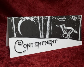Contentment Christmas/Holiday Cards, 10 Pack