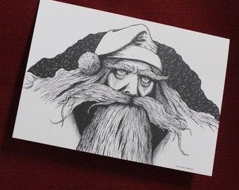 Scary Santa Holiday Cards 10 Pack