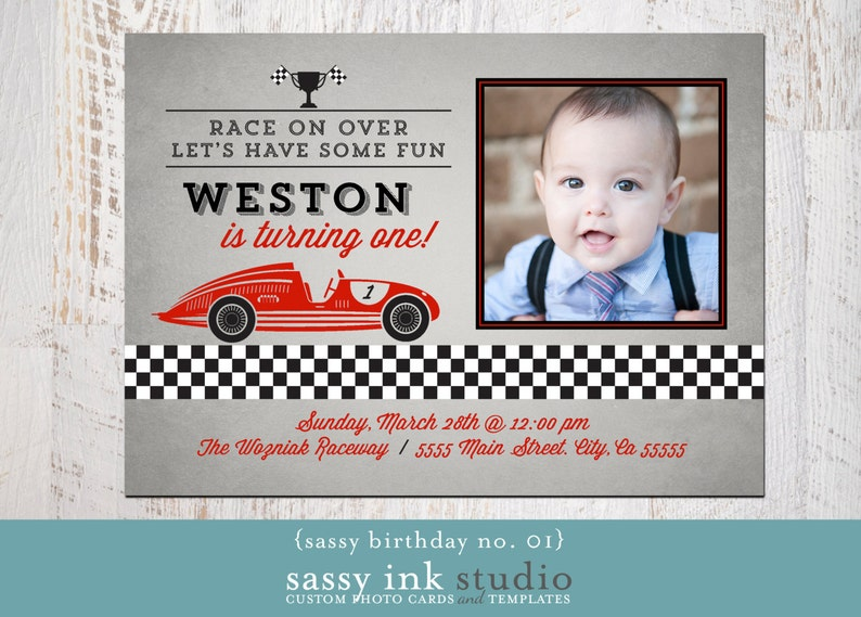 Birthday Party Photo Invite Template