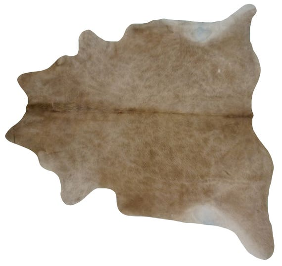 Brazilian Cowhide Fur Rug Extra Large Solid Beige Real
