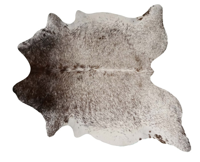 Brazilian Cowhide Real Fur Rug - Salt Pepper Brown & White Mix - Real  Cowhide - Large 6 5' - NEW