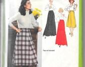 SIMPLICITY 9085 Size 46 Waist 44 Vintage 1970's Skirt Gored Knee Length Maxi Midi Retro Pattern