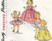 "SIMPLICITY 1372 ORIGINAL True Vintage 1950's Size 8"" Doll Wardrobe Alexander Kins Ginny Muffie Dress Jumper Robe Nightgown Petticoat Hat"