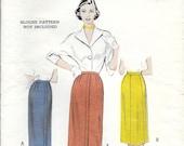 BUTTERICK 5858 Waist 26 Vintage 1950's Skirt 4-Gore 5-Gore Slim Pencil Pattern
