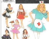 SIMPLICITY 8851 UNCUT Size 14 16 18 20 Costume Sexy Little Red Riding Hood Nurse Maid Pirate Wench Waitress Showgirl OOP Pattern