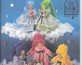 SIMPLICITY 7187 UNCUT Kalico Kastle Gingham Angels Soft Sculptured Cloth Yarn Dolls Vintage 1980's Craft Pattern