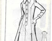 KATE MARCHBANKS 1462 Size 22 1/2 Bust 45 Shirtdress Princess Seam A-Line Plus Size Mail Order Sew Rite Vintage 1970's Pattern