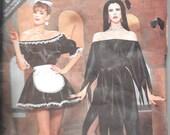 BUTTERICK 5800 UNCUT Sizes P-L 6-18, French Maid Elvira Vampire Halloween Costume Pattern