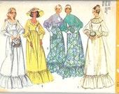 SIMPLICITY 5569 Size 10 Bust 32 1/2, Vintage 1970's Bride Bridesmaid Wedding Gown Retro Pattern