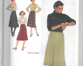 """SIMPLICITY 9176 UNCUT Size 14 Waist 28"""", Wrap Skirt Pattern with variations Retro 1970's"""