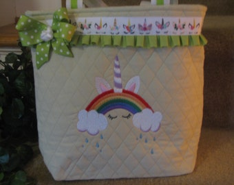 Unicorn Theme Tote Bag