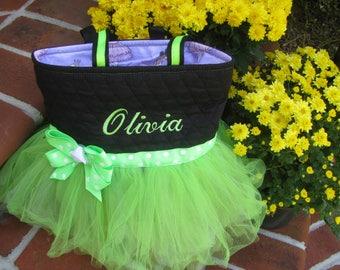 Personalized Green Ballet Tutu Bag