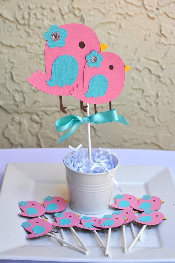 Bird Theme Nesting Baby Shower Birthday Centerpiece Etsy