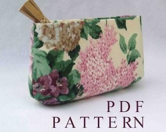 Sewing Pattern DIY Wedding Bridesmaid Clutch Purse Download // simple // Beginner