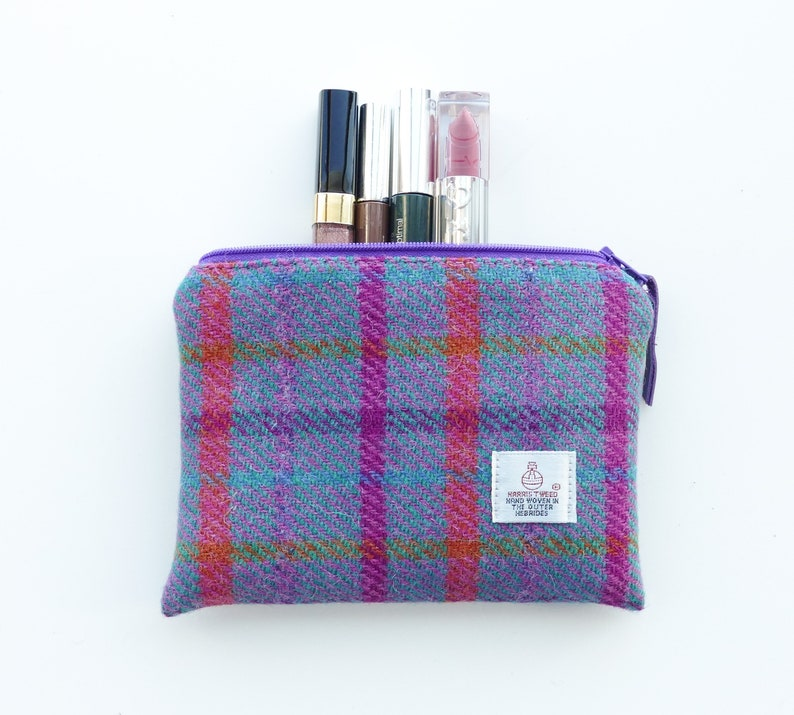 b23130ed5a HARRIS TWEED tartan makeup bag handmade Scottish gift gift