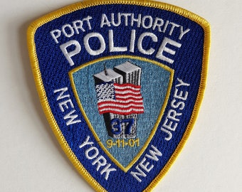 Port Authority Police 911 Memorial Embroidered Patch