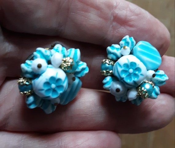 Sterling Dead Pawn BEETLE PIN w Sky Blue Milk Glass Bead C Clasp Unmarked Tested 925 Purchased New Mexico 1960 In Style of Fred Harvey etc