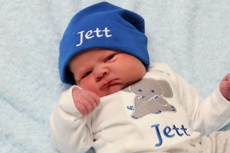 Personalized Baby Boy Gift Set Bodysuit and hat