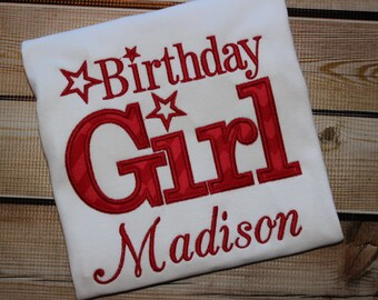 Personalized Birthday Girl Birthday Shirt ~ Star birthday