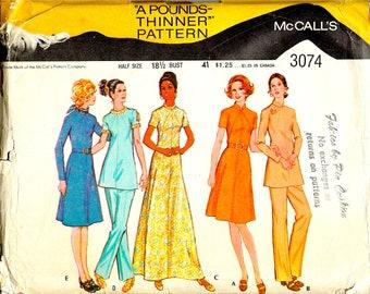 Butterick Pattern 3074 Misses Dress Close Fitting Sleeveless A-Line 8-12 Uncut