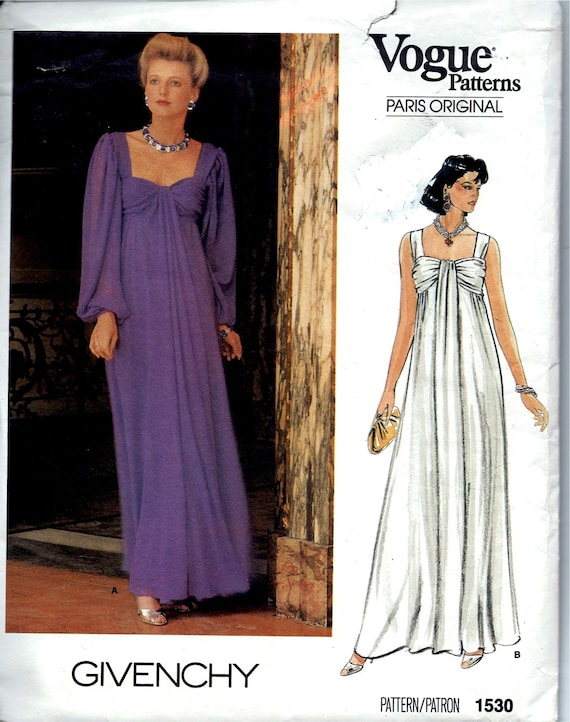 Grecian Style Evening Dress Sewing Pattern