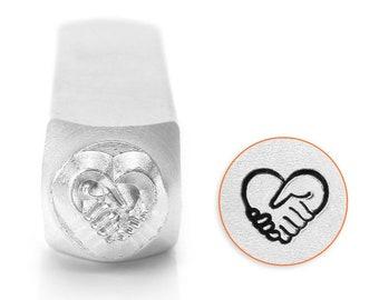 ImpressArt Stamping, Heart Hands Design Stamp, 6mm
