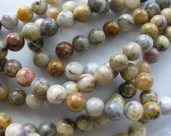 4mm Crazy Lace Agate Round Beads - 16 inch strand