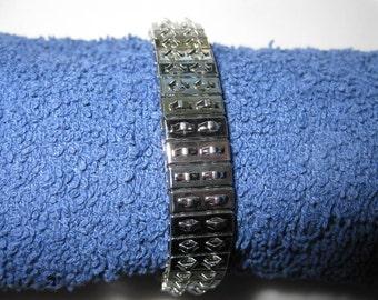 Pkg 3 - 7 Inch Double Row Steel Stretch Cha Cha Bracelet