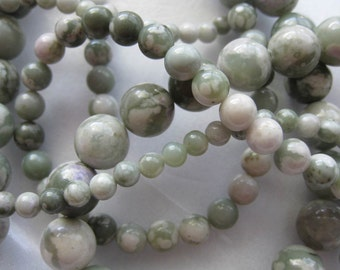 10mm Peace Jade Round Beads - 16 inch strand