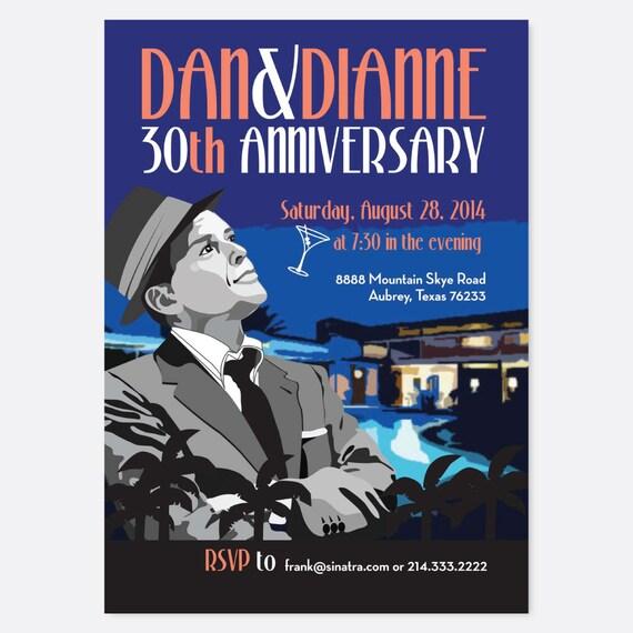 Frank Sinatra Party Invite Adult Party Invites Printable Etsy
