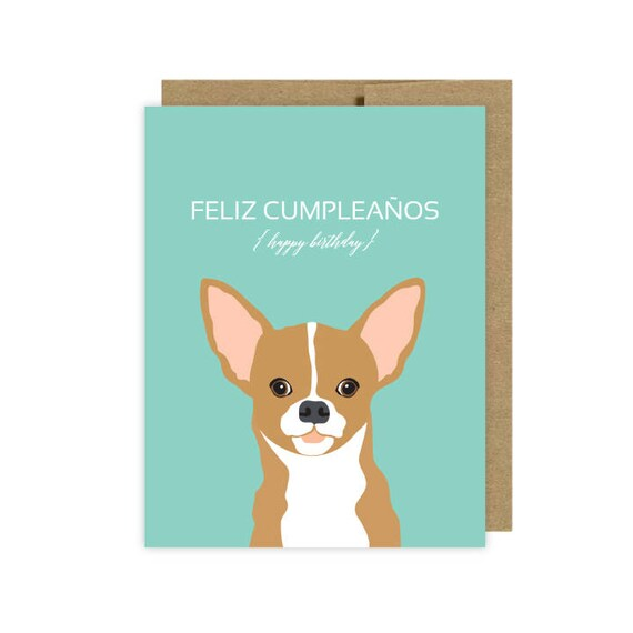 Chihuahua Dog Birthday Cards Etsy Etsy