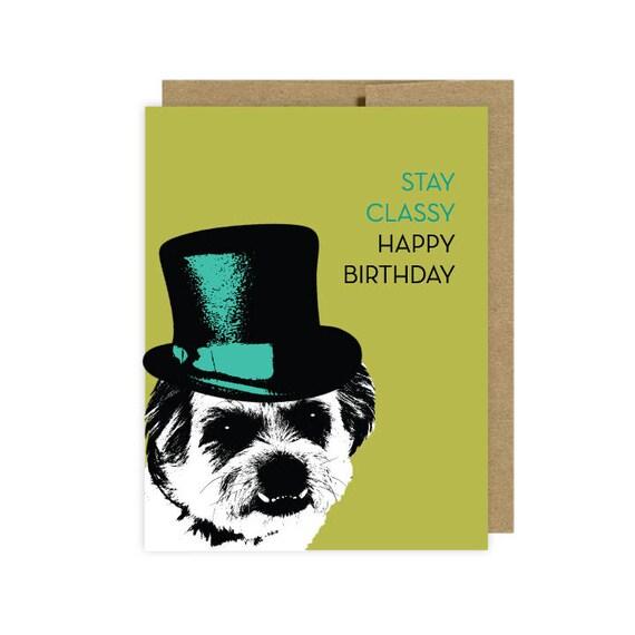 Dog Birthday Card Funny Lover Etsy