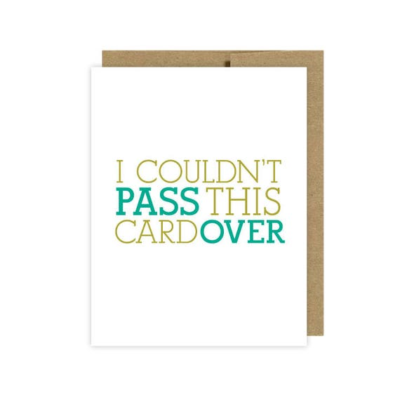 I Couldn't Pass This Card Over Passover Card