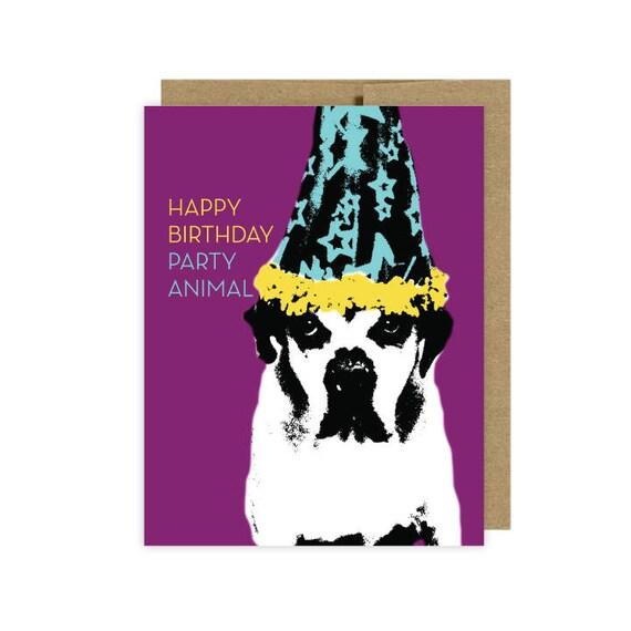 Dog Card Birthday Lover Boxer