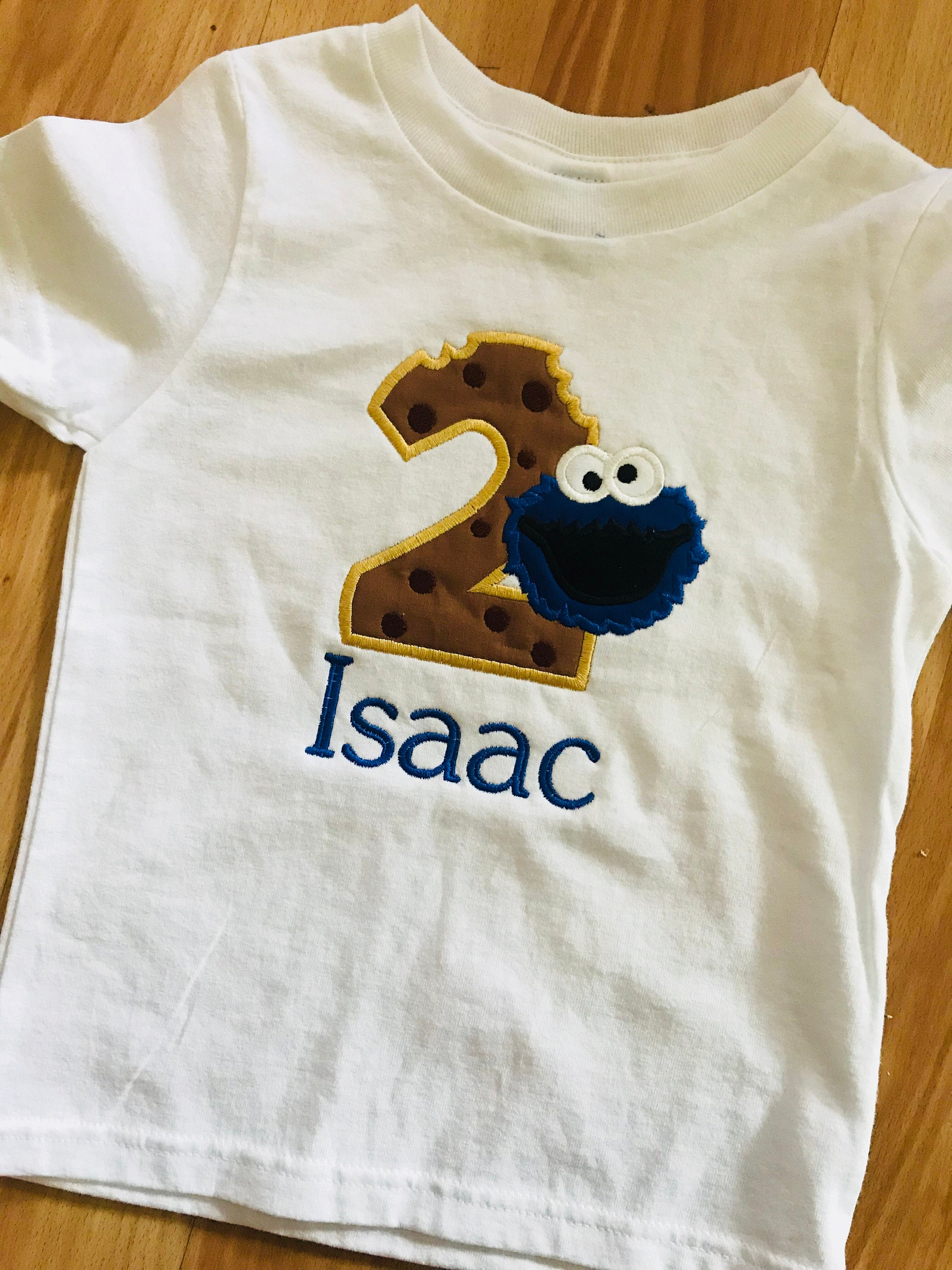 Cookie Monster Birthday T Shirts For Toddlers And Infants 1