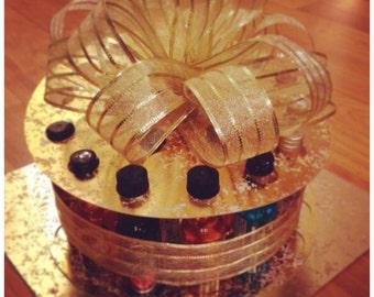 Metallic: 21 Shots, 21st Birthday Celebration Cake Kit