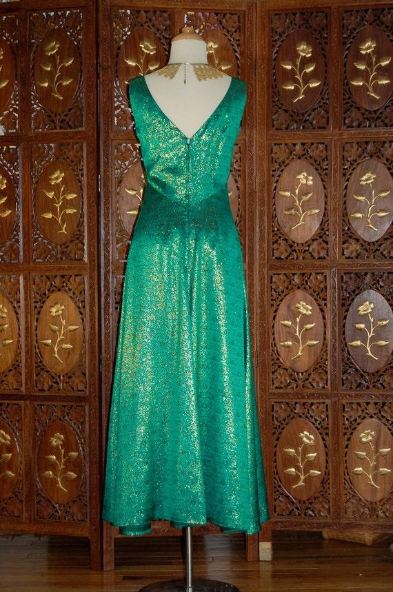 ON SALE Vintage 1960S Estevez Emerald Green & Met… - image 4