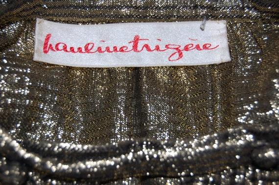 ON SALE Vintage 1990s Pauline Trigere Black and G… - image 5