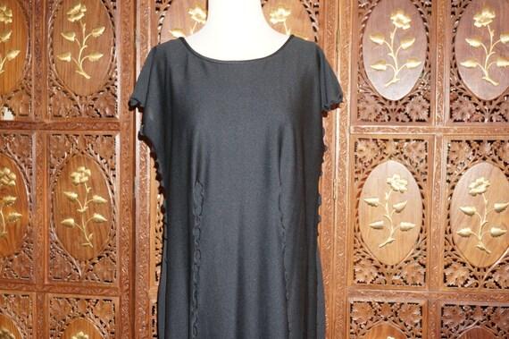 1970s Jean Varon Tassel Dress